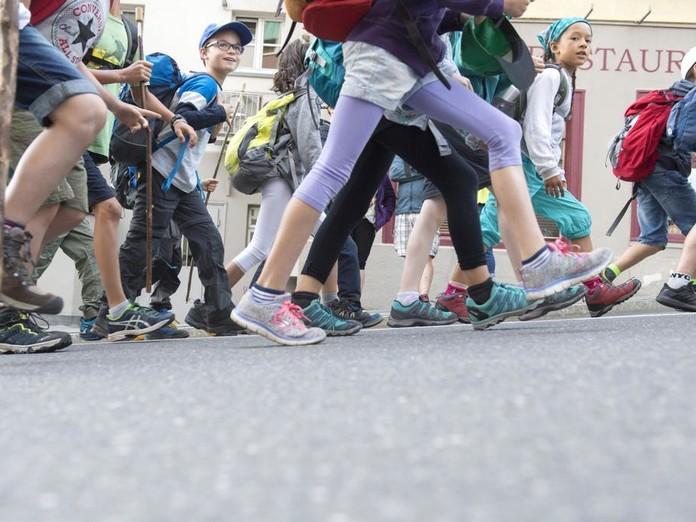 Churer Maiensäss: Die Kinder sind unterwegs