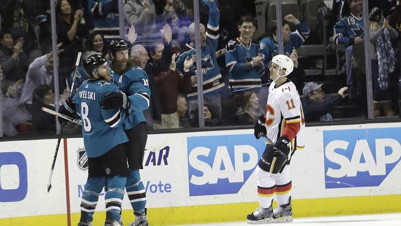 Flames Sharks Hockey