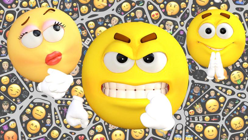 Kuss smileys und männer Emojis: Die