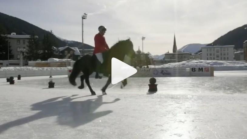 In Davos sind die Isländer los