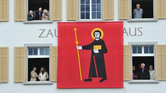 Fahne Flagge Fridolin Wappen Kanton Glarus