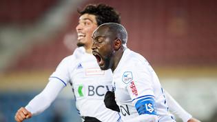 Cabral (im Vordergrund) erzielte für Lausanne-Sport das Siegtor gegen Kriens