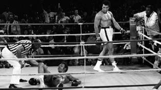 "Beim ""Rumble in the Jungle"" schickte Muhammad Ali 1974 in Kinshasa George Foreman zu Boden"