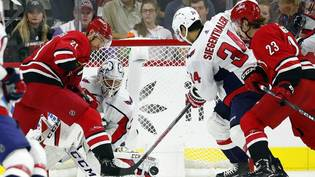 CORRECTION Capitals Hurricanes Hockey