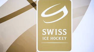 Das Logo der Swiss Ice Hockey Federation (SIHF), fotografiert an den Swiss Hockey Awards 2016 in Bern