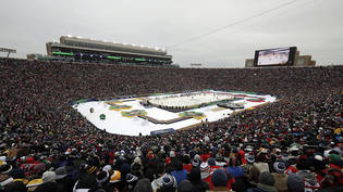 Imposante Kulisse an der Winter Classic im Notre Dame Stadium in South Bend