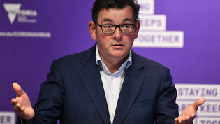 Victorian Premier Daniel Andrews addresses the media during a press conference in Melbourne, Sunday, September 27, 2020. Victoria has reported 16 new COVID-19 cases and two deaths as Melbourne awaits a relaxation of lockdown restrictions. (AAP Image/Erik…